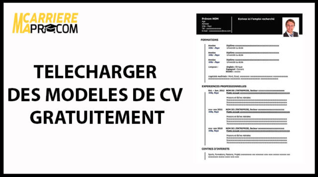 t u00e9l u00e9charger un cv modifiable