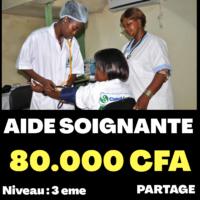 AIDE SOIGNANTE 80.000 CFA